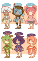 Quickie Adopts: Mixed [Close] by SugarSweetEclair