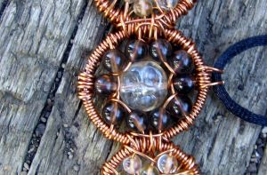 Quartz and Citrine Triple Moon by MoonLitCreations
