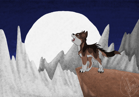 Howling wolf background by West-Kitsune