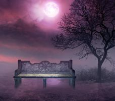 Purple Night Premade Bg By Starscoldnight by StarsColdNight