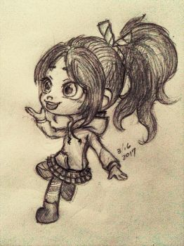 vanellope concept sketch 3 16 2017 by summilly