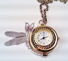 Dragonfly Watch Pendant by SteamDesigns