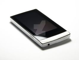 Sleek White Cowon J3 by brightstyle