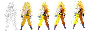 Goku Ssj3 Proces by marvelnerd87