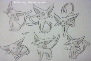 Espeon by Bluekiss131