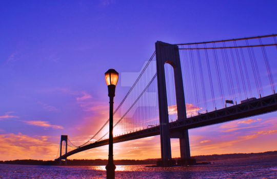 Bridge at sunset 2 by ArtieWallace