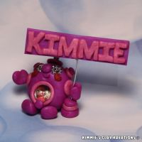 Polymer Clay Robot Cake Topper Personalized Name by KIMMIESCLAYKREATIONS