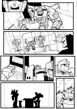 The Warning After pg 6 Line art by CornyCartoons