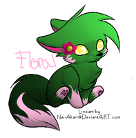 Cat Adopt: Floral CLOSED by RawrDanteDoggie