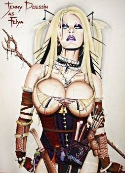 Jenny Poussin as Pathfinder Witch Feiya by TheArtofJamesGraves