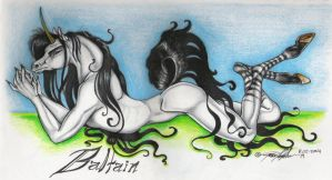 Baltain the unicorn by moonfeather
