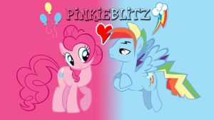 Pinkie Pie and Rainbow Blitz Wallpaper by AaronMon97