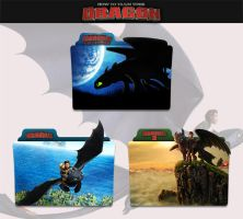 How to Train Your Dragon 2010 - 2014 Folder Icon by sonerbyzt