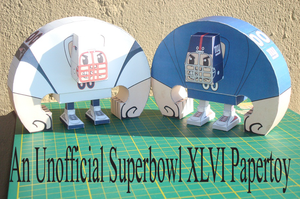 Unofficial Superbowl XLVI Papertoys by Sinner-PWA