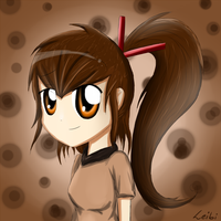 weird looking ''Anime'' girl by Leibi97