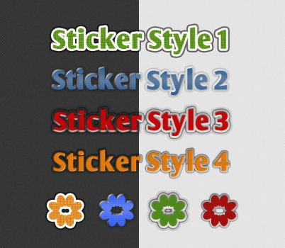 Free Sticker Styles by xara24