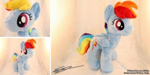 Rainbow Dash V2 Mane My Little Pony Plushie by LiChiba