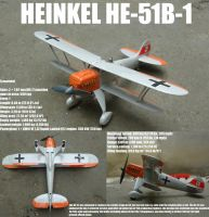 He-51B-1 Luftwaffe Biplane Fighter_1935 by DingoPatagonico