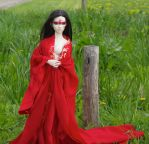 382 Lady In Red  3 C by beedoll