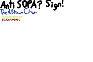 Petition against SOPA! by BlackPanda36