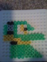 Vector the crocodile in Perler beads by monicahedgie