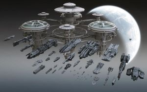 Infinity MMO fleet wallpaper by KopeKope
