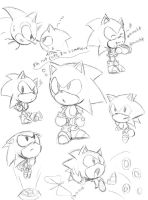 Classic sonic doodle by idolnya