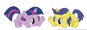 Twilight and Comet as kids. by 3D4D