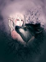 Elf and wolf by endzi-z