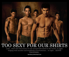 TOO SEXY FOR OUR SHIRTS by BenavolutionArt