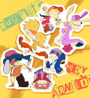 Rugrats x HEY ARNOLD! by knknknk