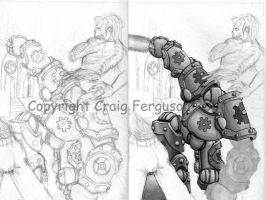 Gears  1 cover WIP by RabidElf