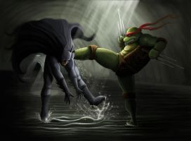 Raphael and The Bat by KeithBoshell