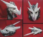 Arctic Dragon Helmet by LycanthropeHeart
