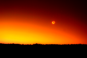 A new day begins. (Fire Red Hue) by SKiNBuS