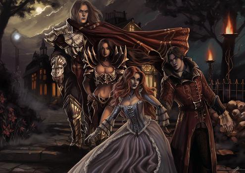 An evening in Mordheim - Commission by jodeee