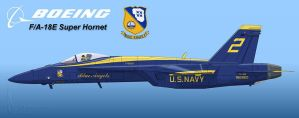 Blue Angels Super Hornet by Wolfman-053