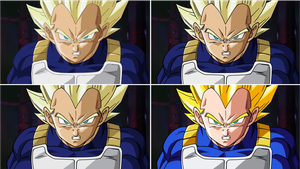 Vegeta ssj kai evolution by maffo1989