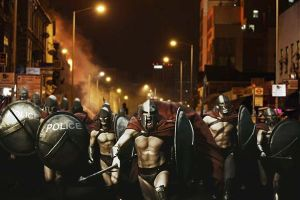 Riot Spartans by Matt-Walton-Design