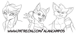 Expressions - Pack 01 by playfurry