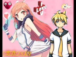 Secret Couple? Miki x Len? xD by Vocaloidmiki711