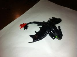 HTTYD Toothless Clay Figure by DragonDrawer102