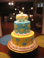 Bath Bubbles Baby Shower Cake by ohnoono