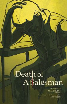 Death of A Salesman Theatrical Poster by LUHBTA