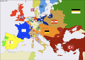 Europe 1765 by Hillfighter