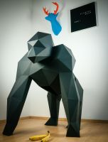 Papertrophy gorilla by Papertrophy