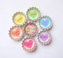 Tiny Bottle Cap Charms by MigotoChou
