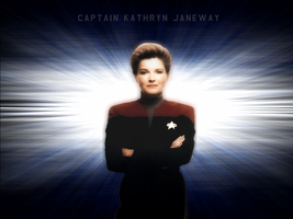 Captain Janeway Wallpaper Blue by phoenix6787