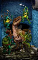 TMNT and Dinosaurs! by Nick-OG