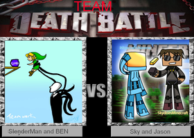 Team Deathbattle - Sky-Jason-VS-Slendy-Ben by 123GirlKirby